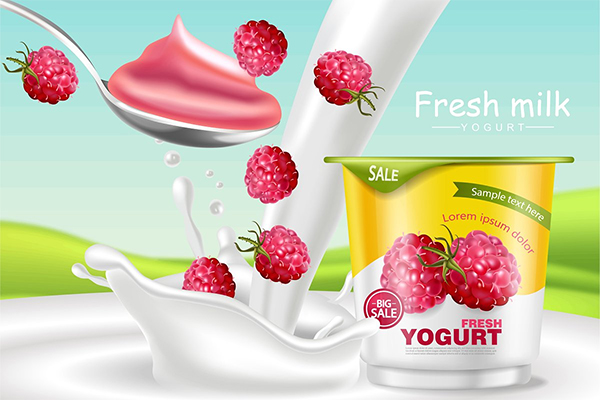Raspberry Yogurt Mockup