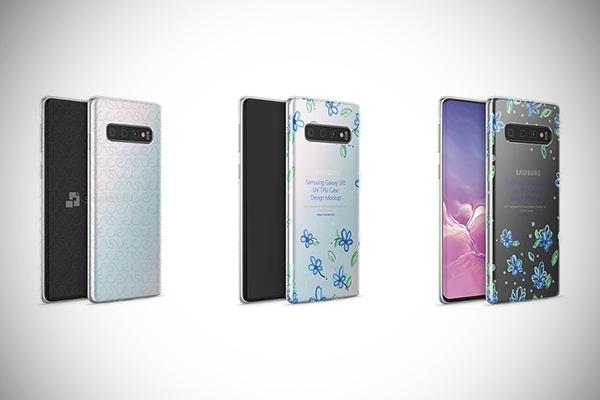 Galaxy S10 TPU Clear Case Mockup
