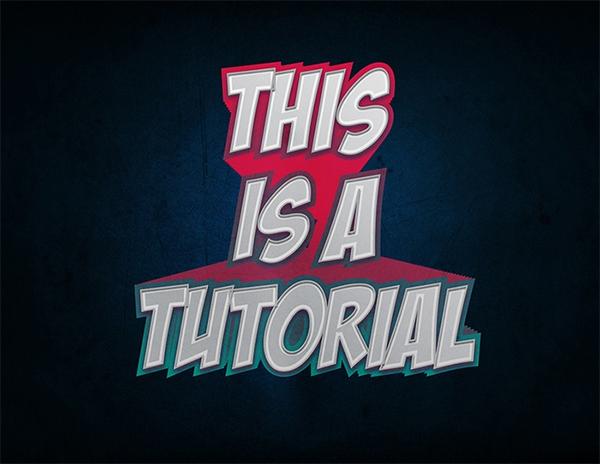 Create a Comic Text Effect