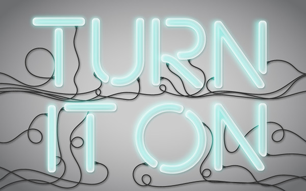 Neon Light Vector Text Treatment