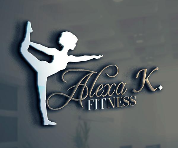 Alexa K Fitness Logo Design