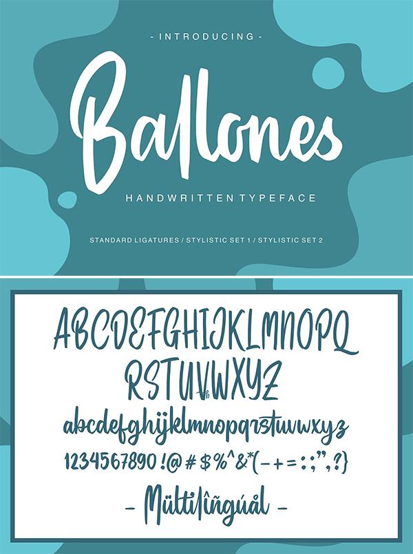 Ballones Script Font