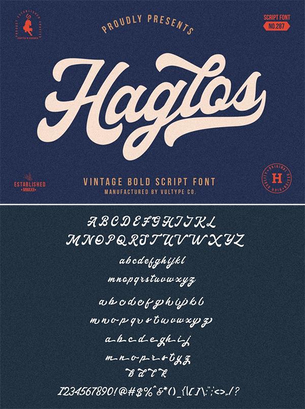 Haglos - Bold Script