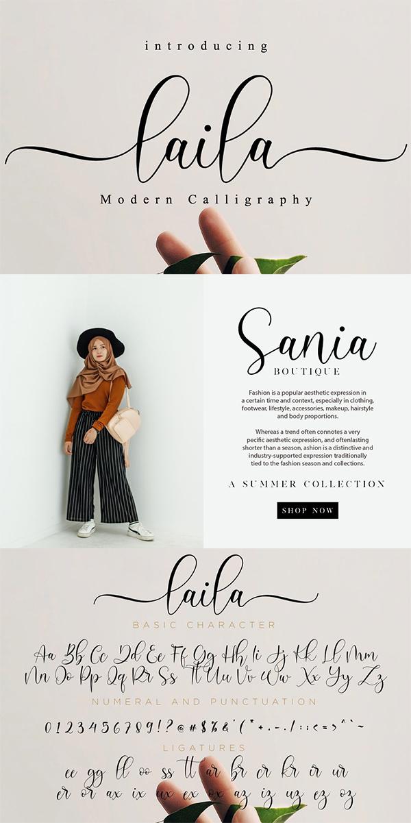 Laila // Modern Script