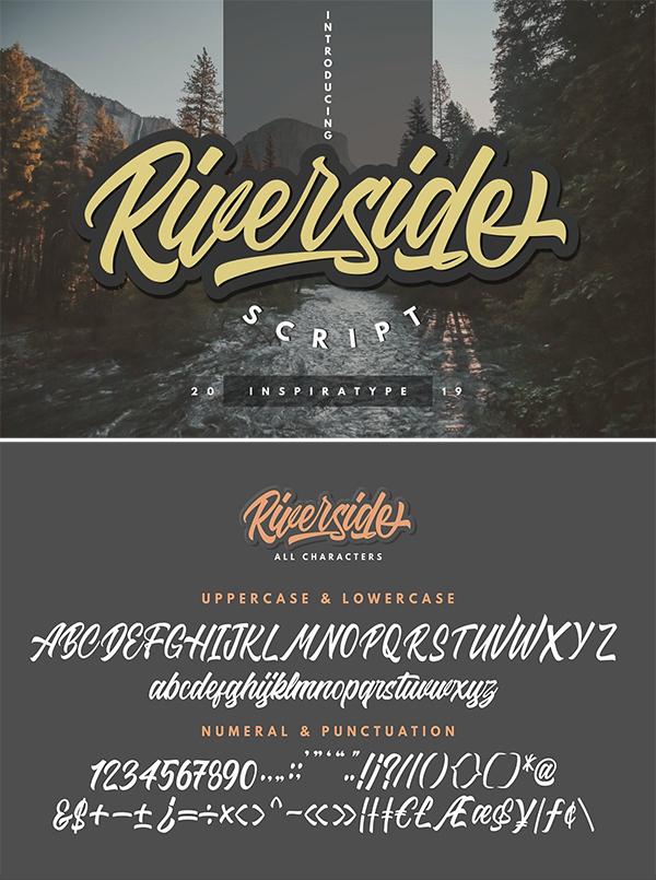 Riverside - Script Font