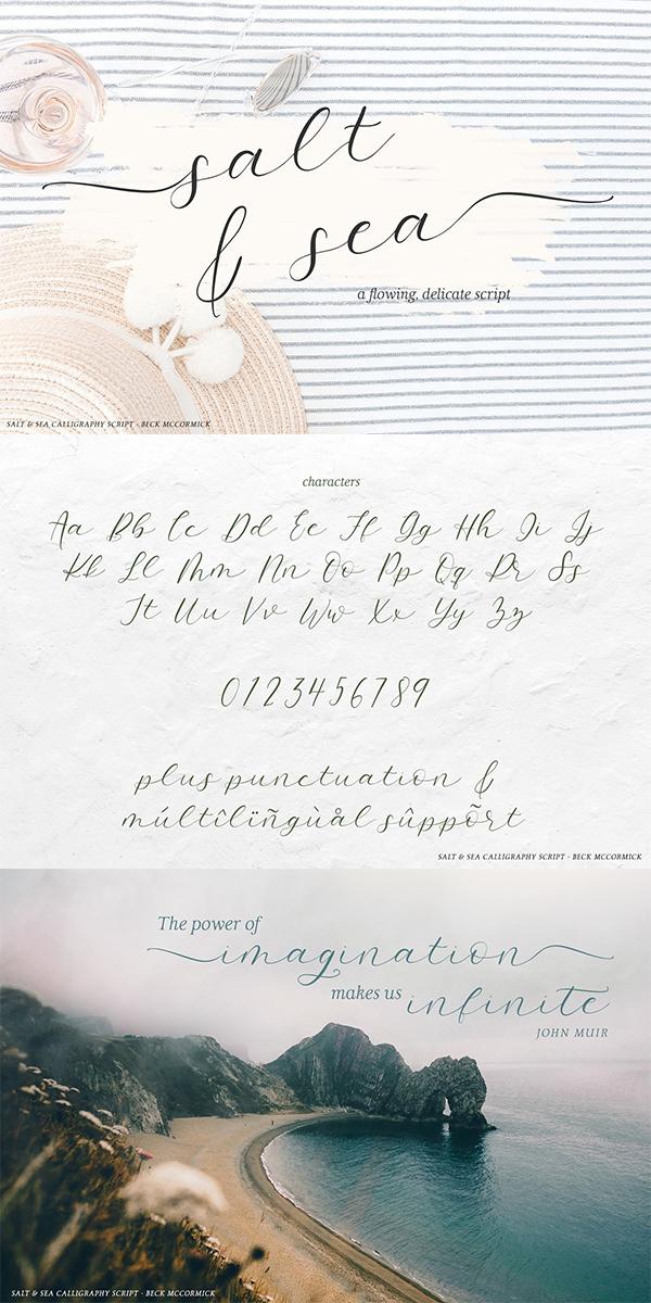 Salt and Sea Calligraphy Font