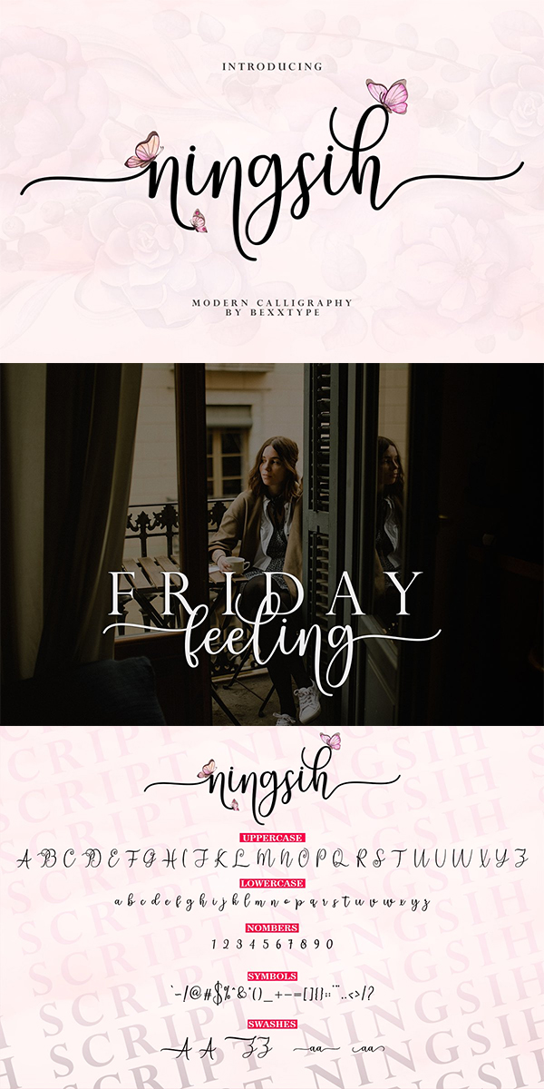 Ningsih Script | Luxury Font