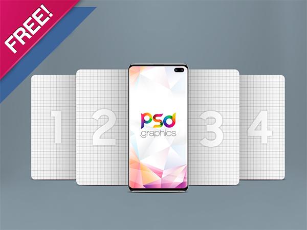 Galaxy S10 Plus Mockup PSD