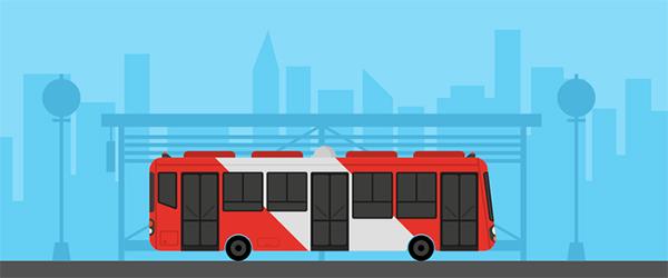 Illustration: Create a Flat Style Bus