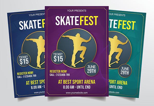 Skateboard Festival Flyer Template