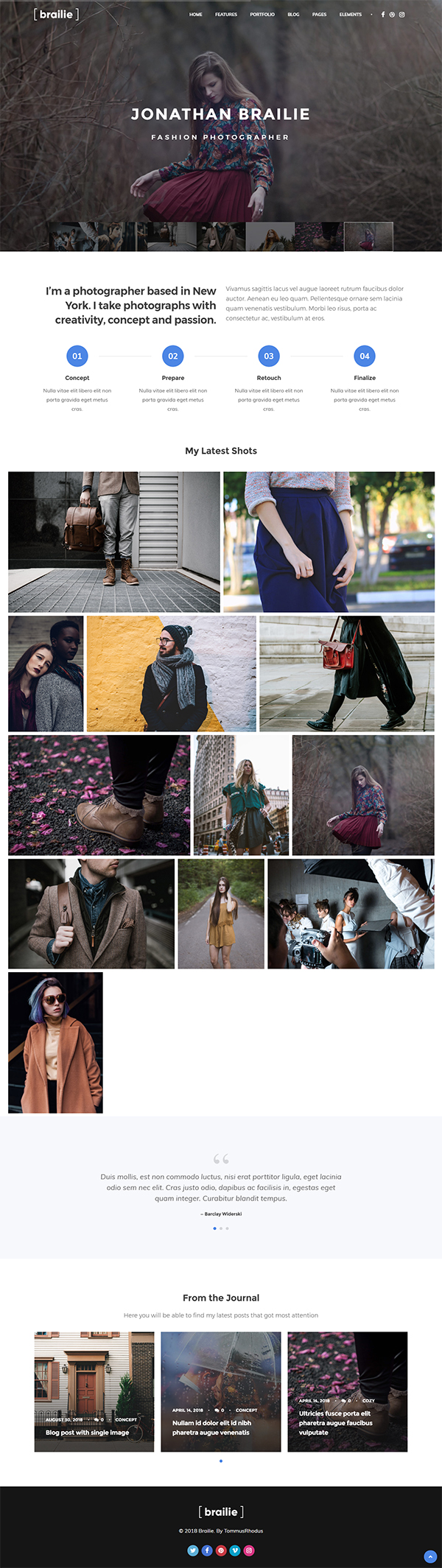 Photography | Brailie Photography Responsive WordPress Theme for Photography