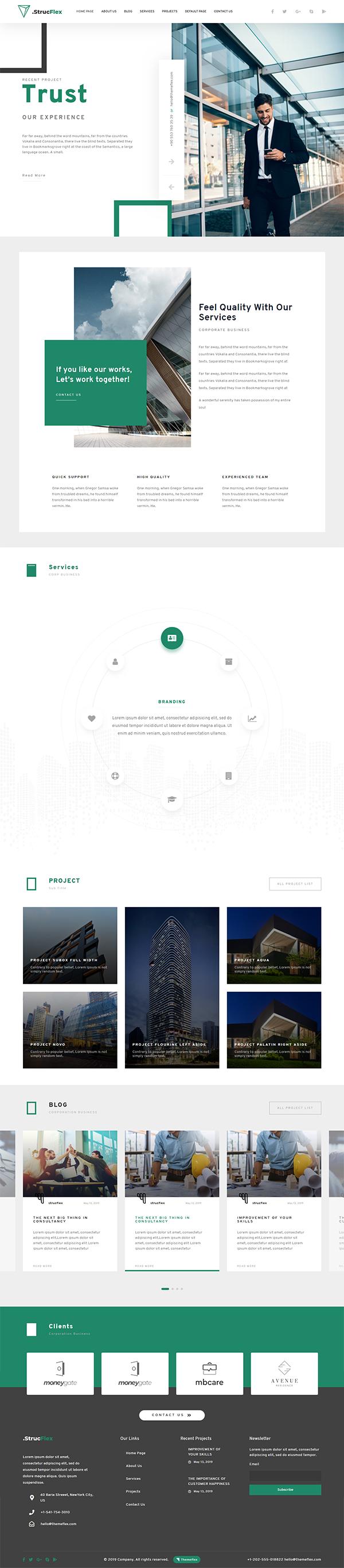 Strucflex Corporate WordPress Theme