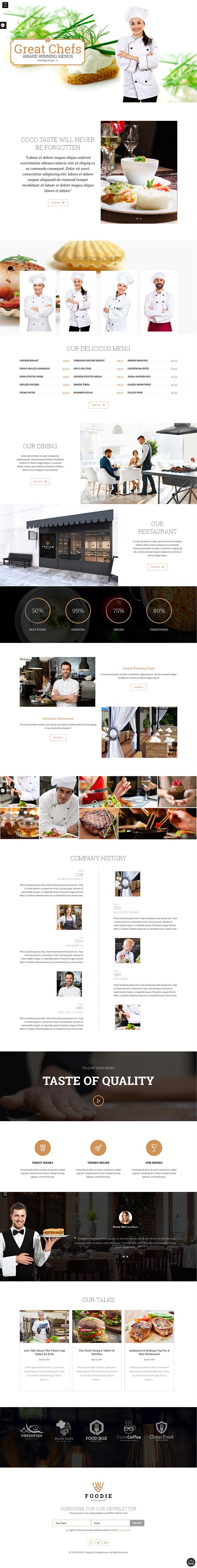 Foodie - Restaurant WP theme