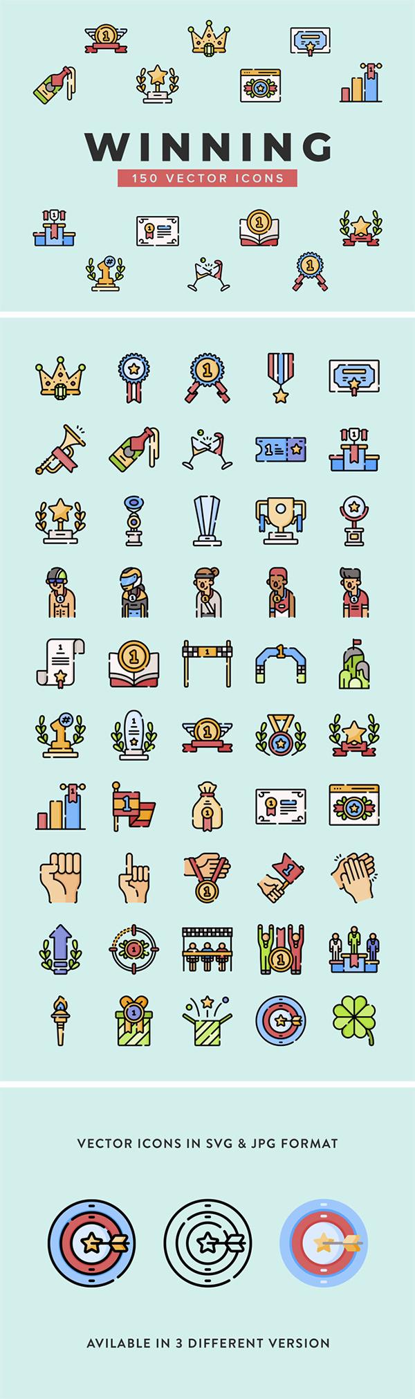 Winning Vector Icons