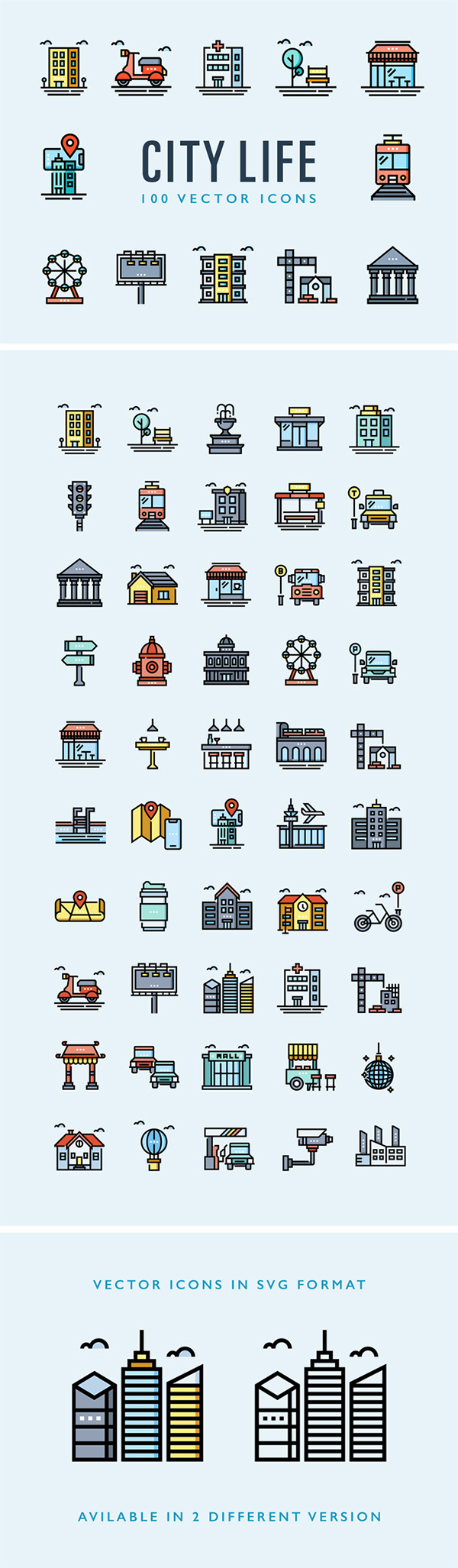 City Life Icons Collection