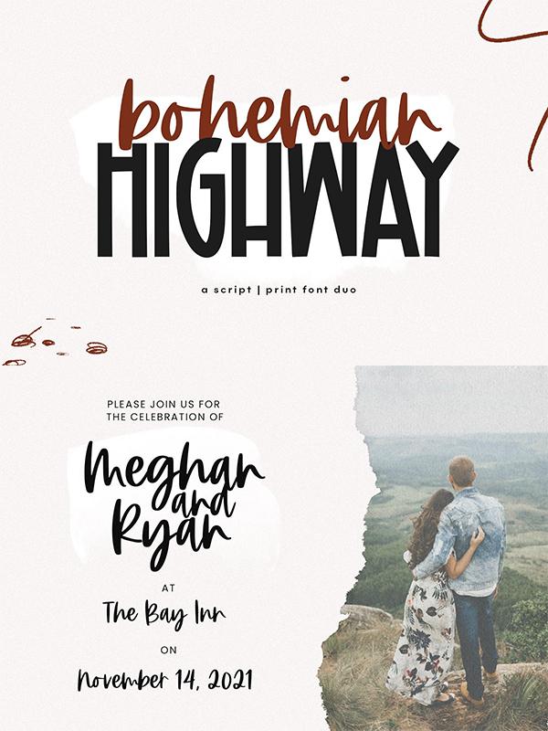 Bohemian Highway - Font