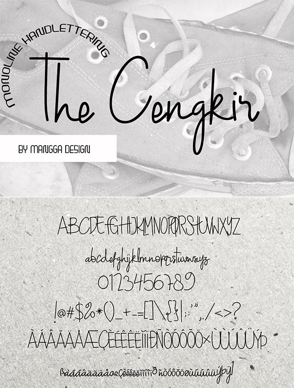 The Cengkir Handwritten Script