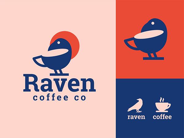 Raven Coffee Logo Design