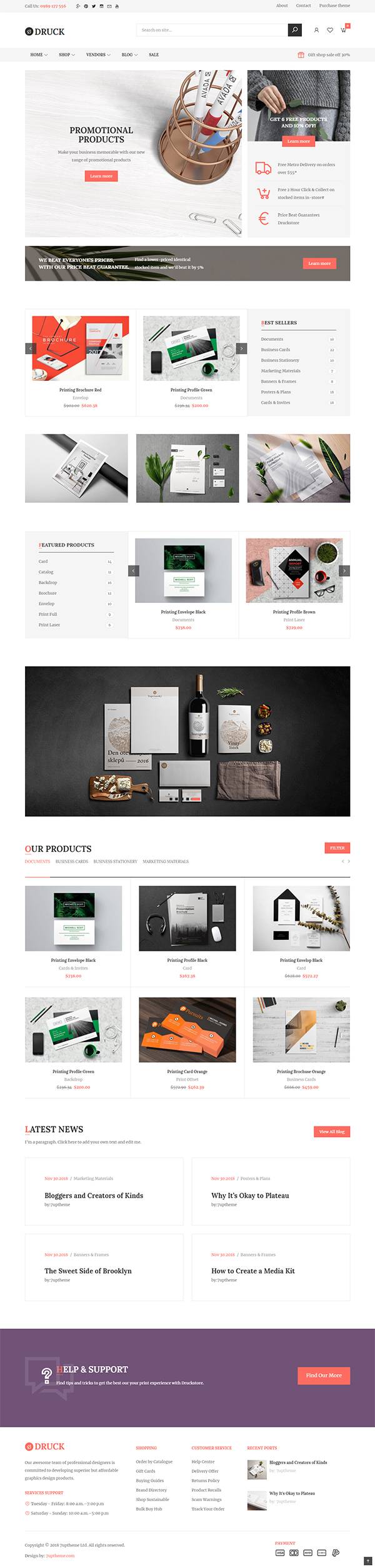 Druck - Print shop WooCommerce WordPress Theme