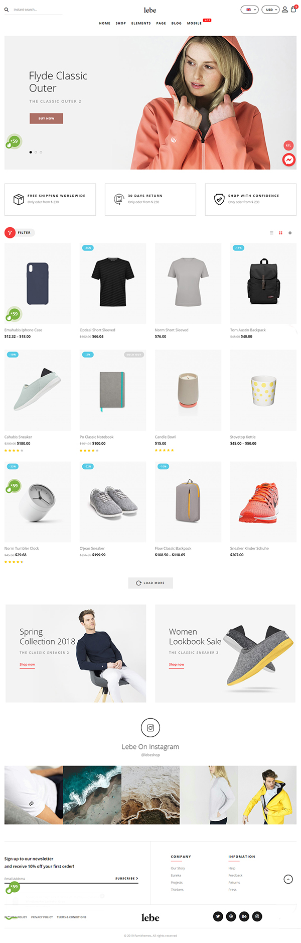 Lebe - Multipurpose WooCommerce Theme
