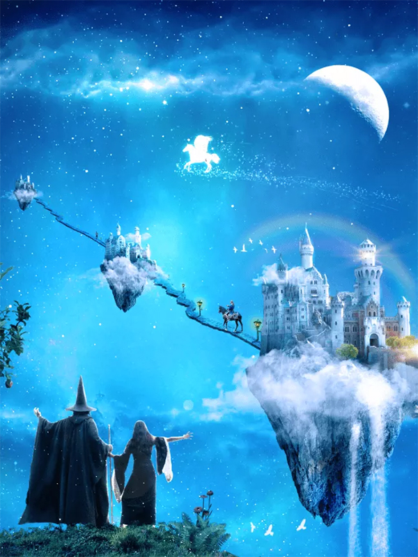 A Wizard and His Pupil – Create a Fairy Tale Manipulation