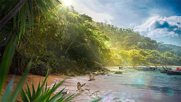 Create Beautiful Tropical Landscape in Photoshop