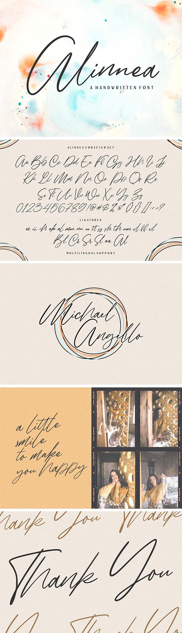 Alinnea Handwritten Font