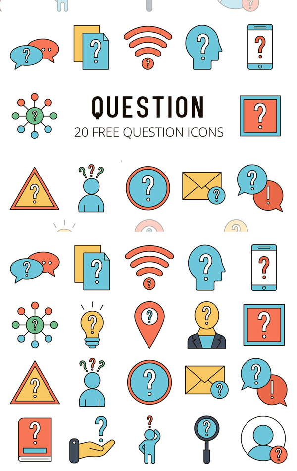 Question Vector Free Icon Set