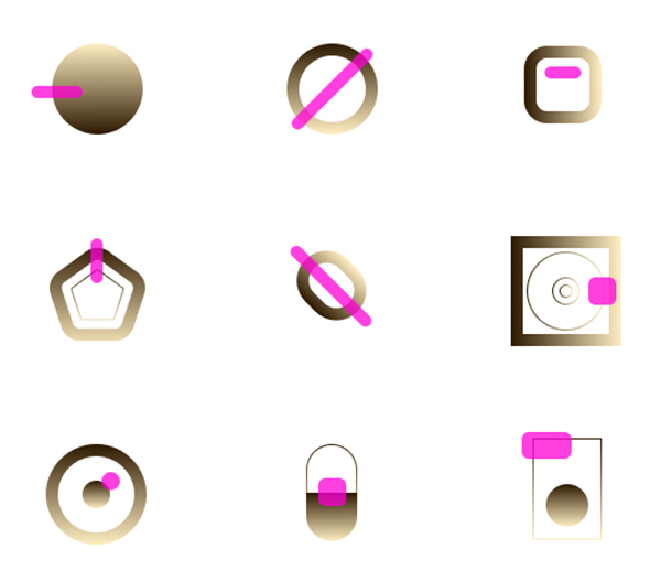 Golden Contrast Free Icons