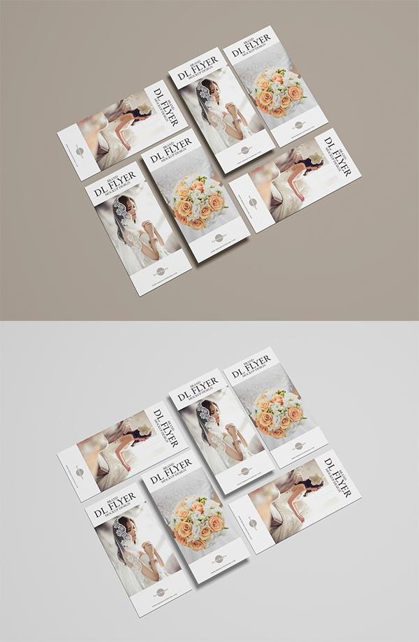 Free Brand Dl PSD Flyer Mockup Design