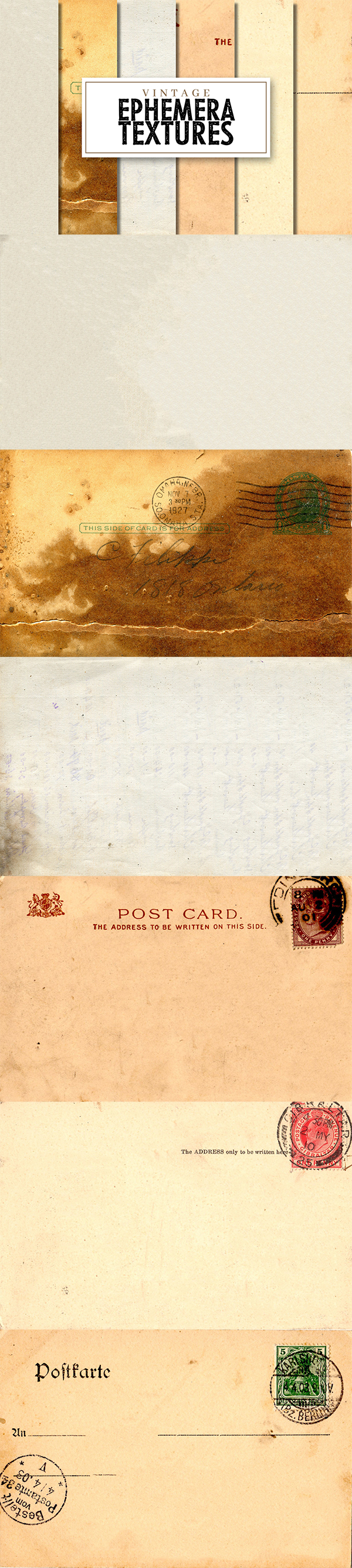 Free Vintage Ephemera and Paper Textures
