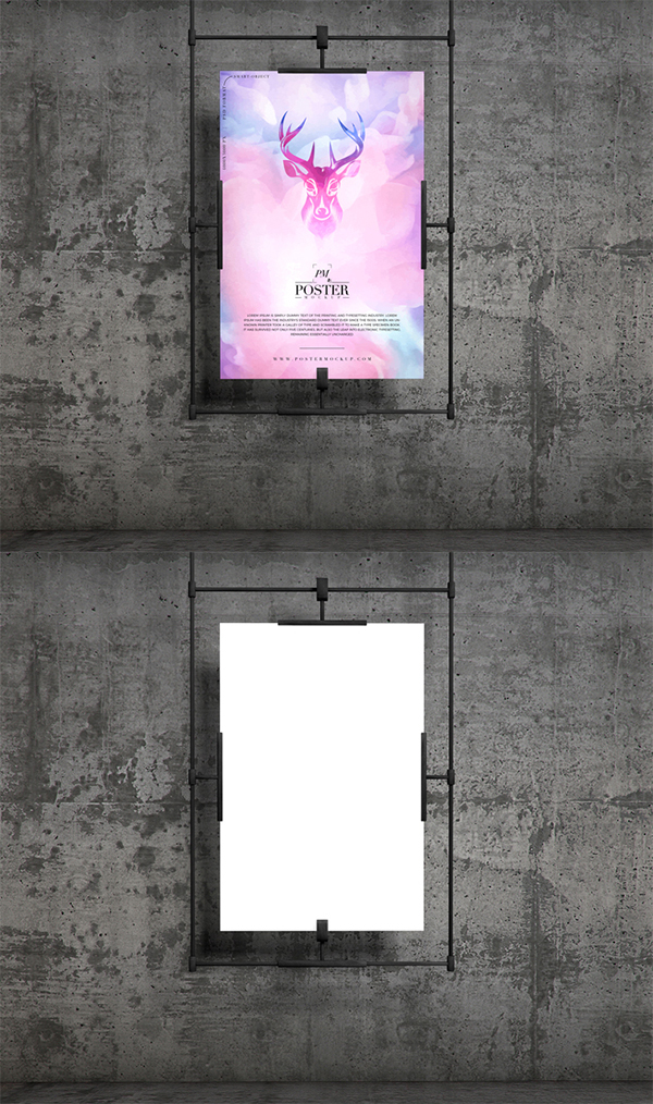 Free Download Awesome Presentation Poster PSD Mockup