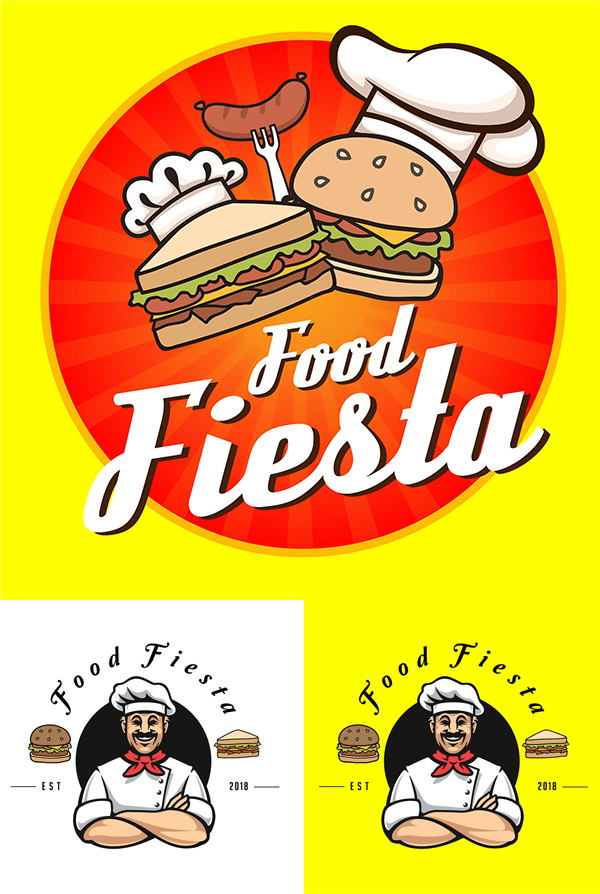 Food Fiesta Logo Design