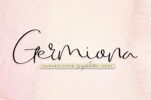 Germiona Signature Font