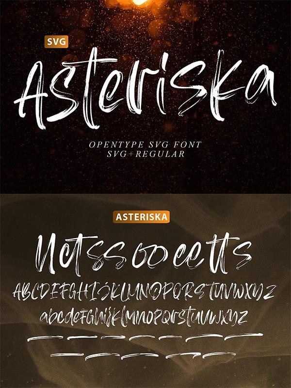 Asteriska-SVG Font