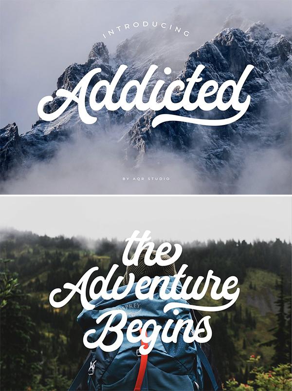 Stylish Addicted Font