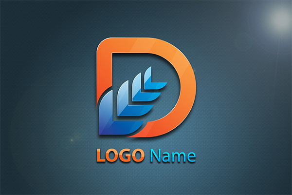 Creative D Shape Logo