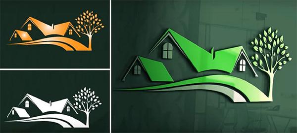 Creative Green House Logo Design