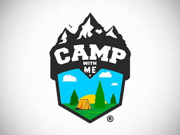 Camp With Me Logo Design