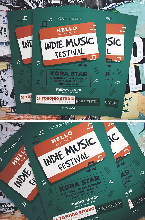 Indie Music Party Flyer