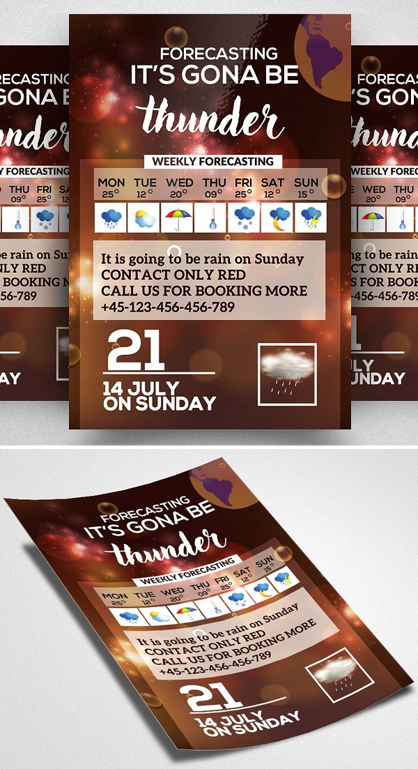 Weather Forecasting Flyer Template
