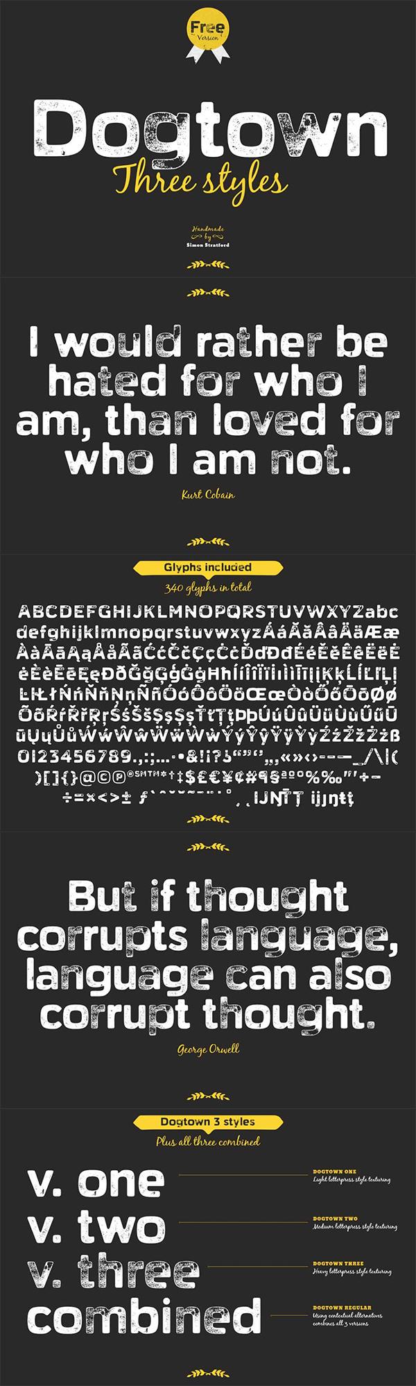 Dogtown Free Font
