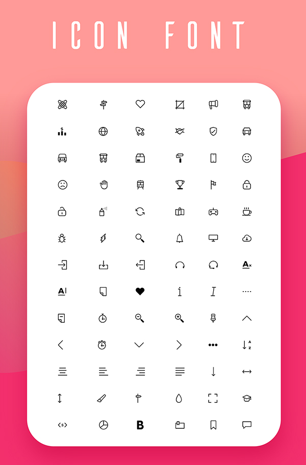 Free Line Icons Project