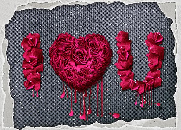 Rose Petals Floral Text Effect Photoshop Tutorial