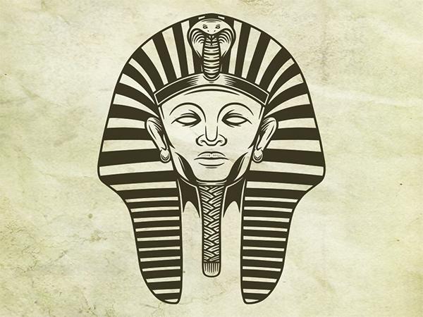 Pharaoh Face Logo Design