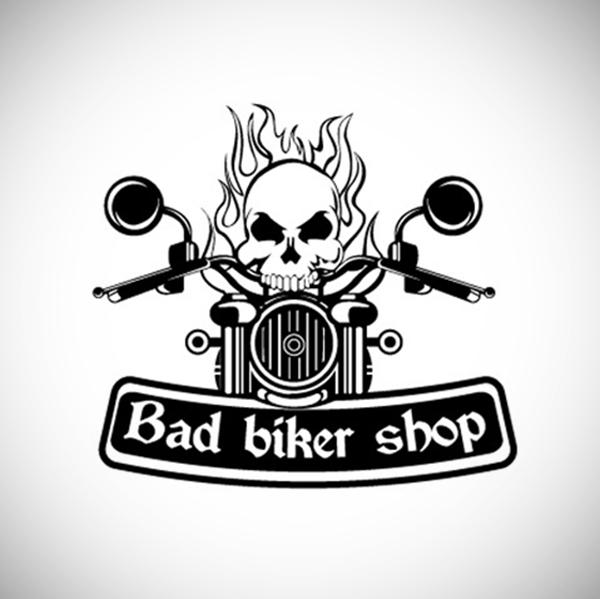 Bad Biker Shop Creative Logo