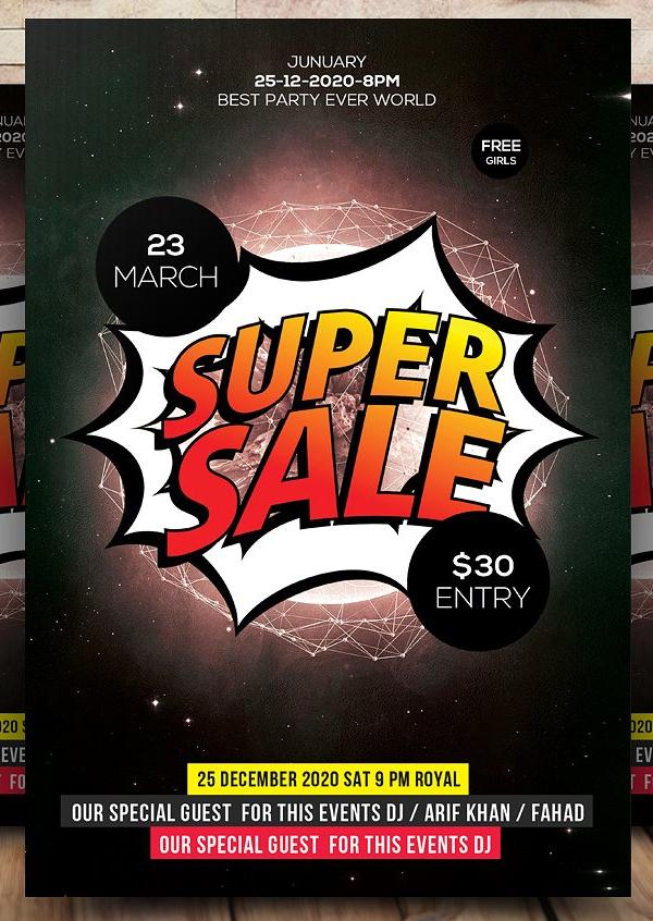 Super Sale Flyer Template Design
