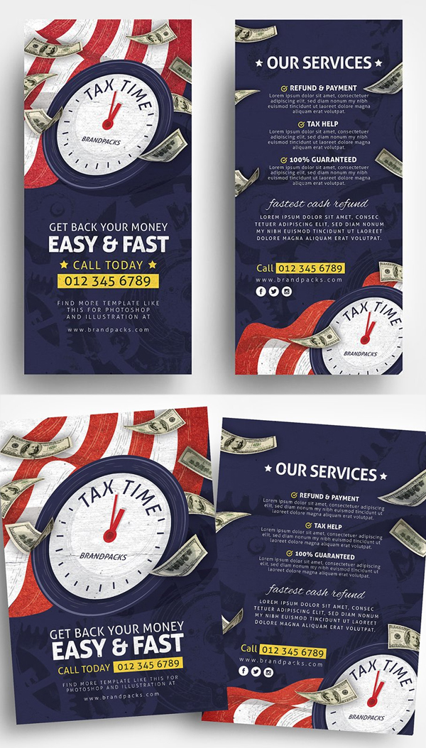 Tax Time Flyer Template