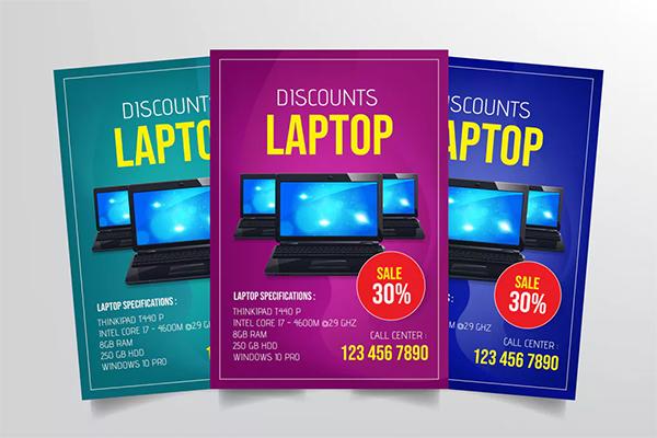 Laptop Sale Flyer Template