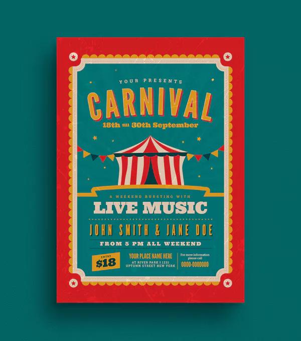 Retro Carnival Event Flyer